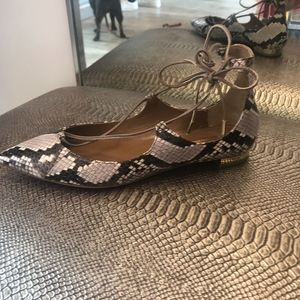 "Aquazzura ""christy"" Snake Flat"
